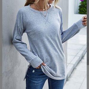 🌈4 for 20 Grey Tunic style sweatshirt